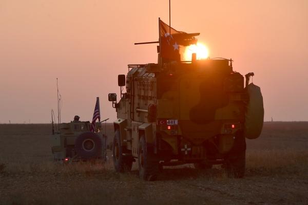 دورية أمريكية ـ تركية مشتركة في منبج. (رويترز)