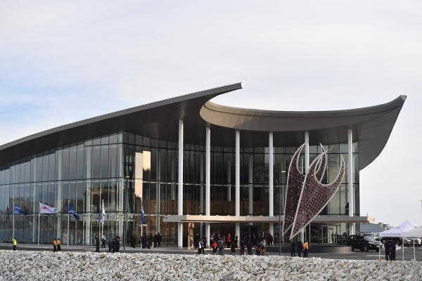"""مبنى انعقاد قمة """"أبيك"""" في بورت مورسبي والتي استضافتها بابوا غينيا الجديدة لأول مرة """"إي بي إيه"""""""