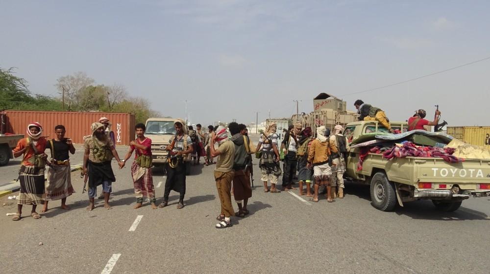 عناصر من قوات الشرعية اليمنية في محافظة الحديدة. (أ ف ب)