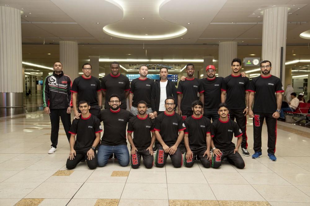 منتخب الإمارات المشارك في بطولة العالم. (الرؤية)