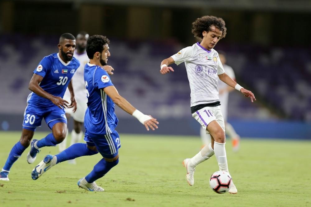 لاعب العين محمد عبدالرحمن. (تصوير: محمد بدرالدين ـ «الرؤية»)