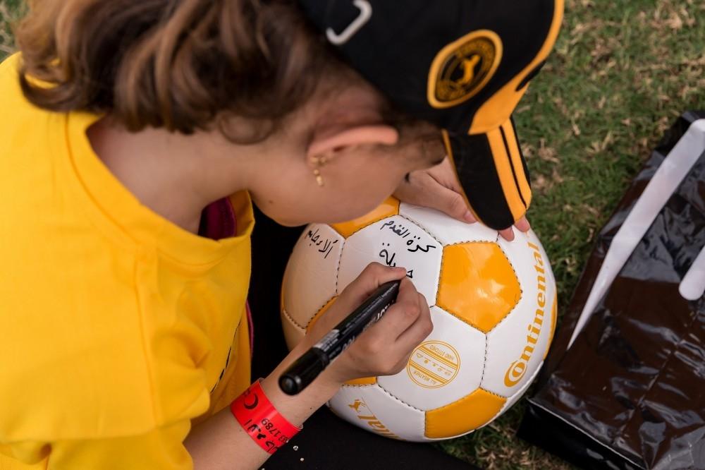 أحد الأطفال المشاركين في المبادرة. (الرؤية)