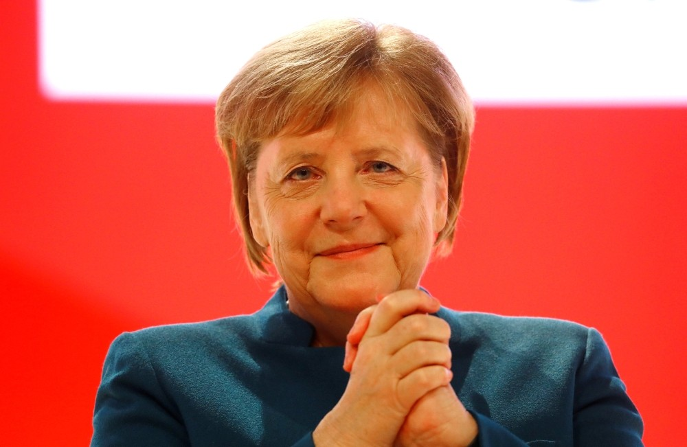 REFILE - CORRECTING BYLINE German Chancellor Angela Merkel reacts during Christian Democratic Union (CDU) party congress in Hamburg, Germany, December 7, 2018. REUTERS/Kai Pfaffenbach