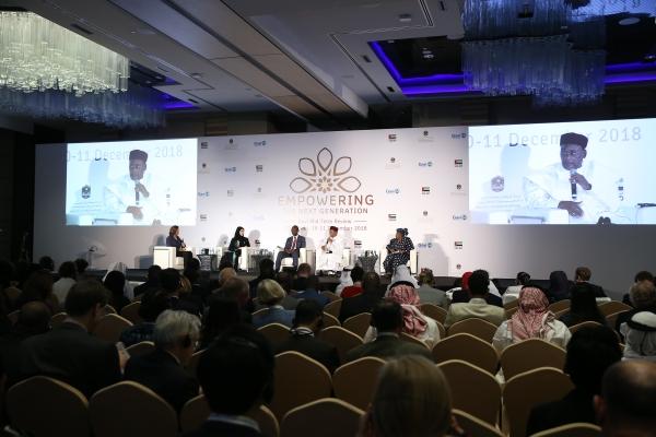 جانب من فعاليات المؤتمر العالمي للقاحات في أبوظبي. (تصوير: علي عبيدو)
