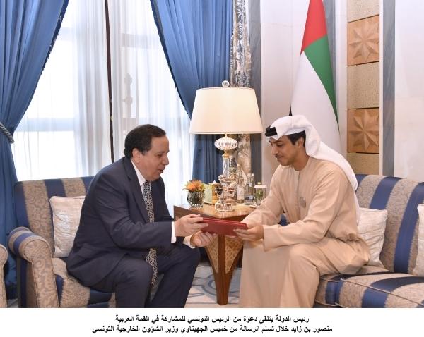رئيس الدولة يتلقى دعوة من الرئيس التونسي للمشاركة في القمة العربية 6