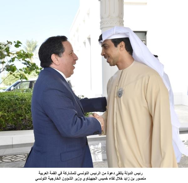رئيس الدولة يتلقى دعوة من الرئيس التونسي للمشاركة في القمة العربية 2