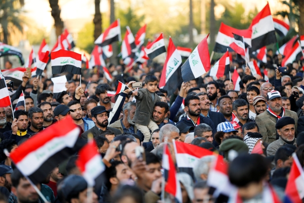 مظاهرات في بغداد. (أ ف ب)