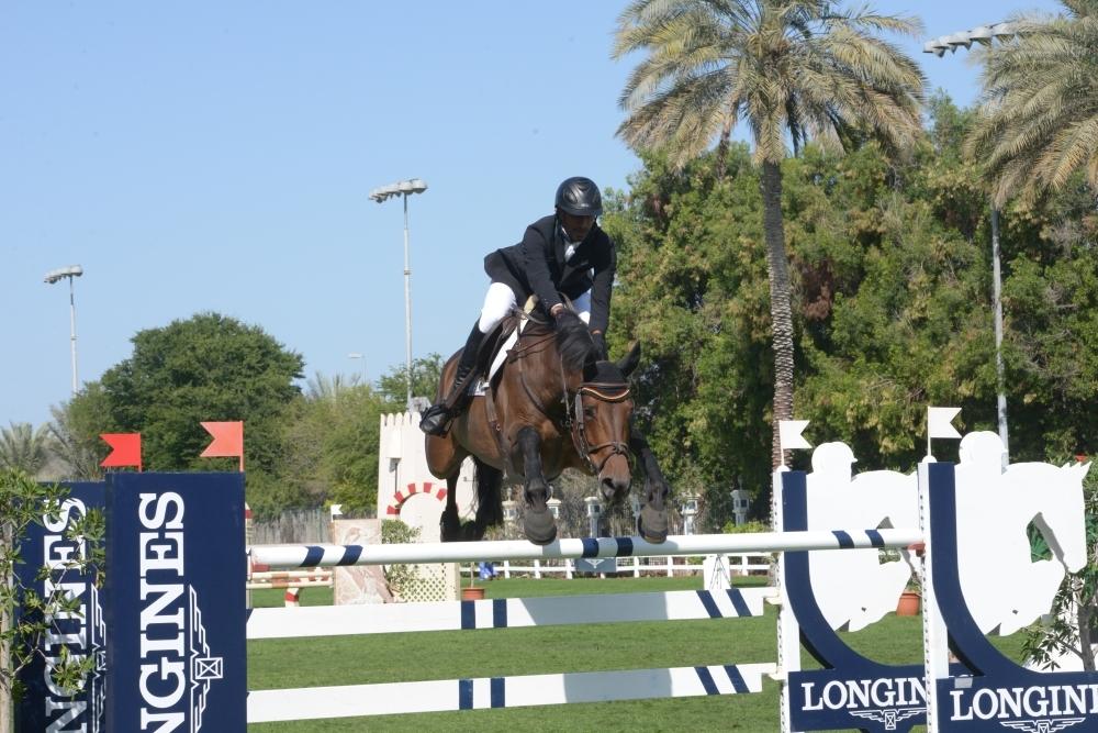 من منافسات مضمار ميدان في دبي. (الرؤية)