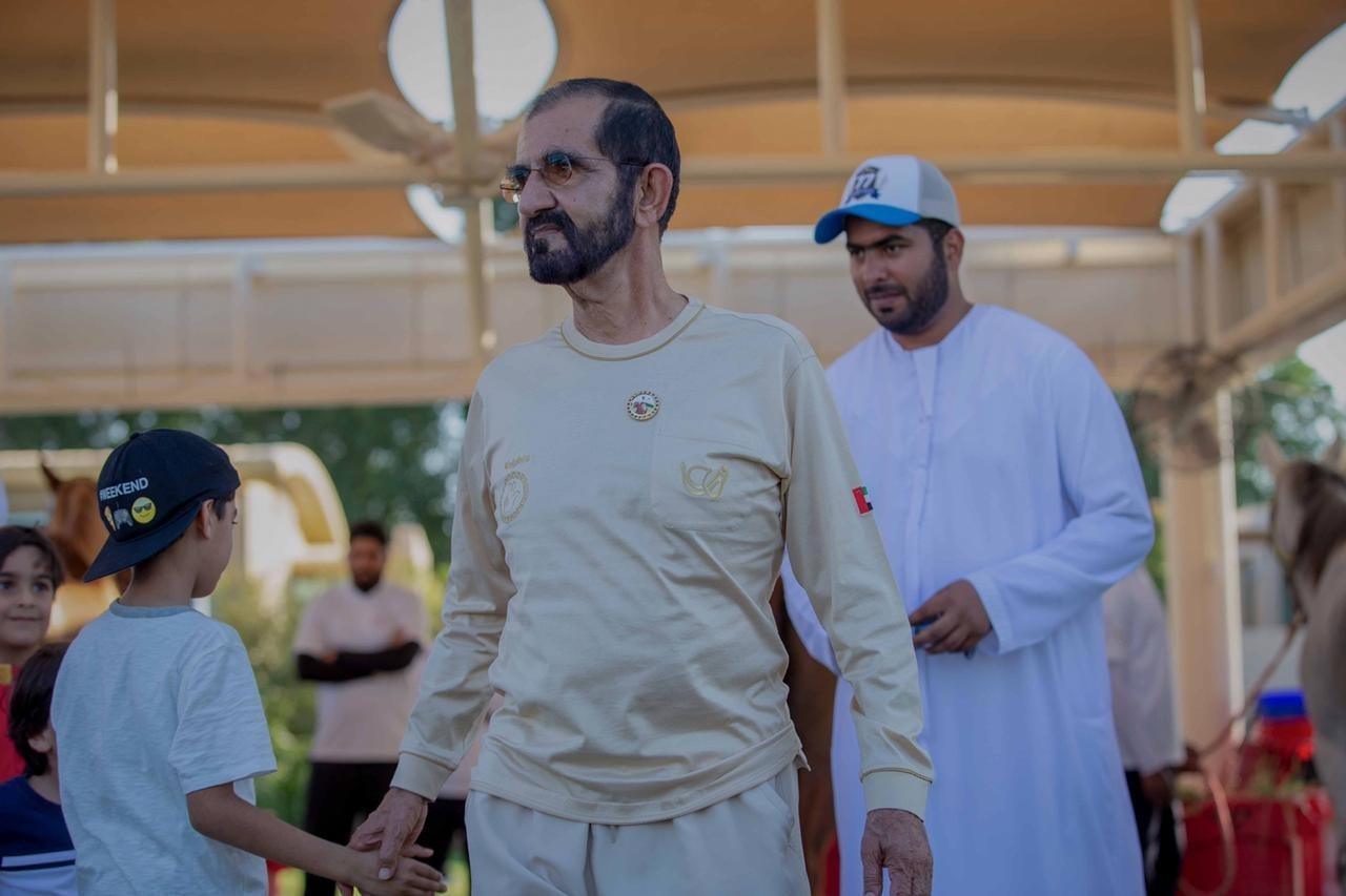 محمد بن راشد شهد سباق البوني