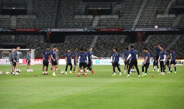 تمرين منتخب الامارات في استاد مدينة زايد الرياضية ابوظبي 04 01 2019