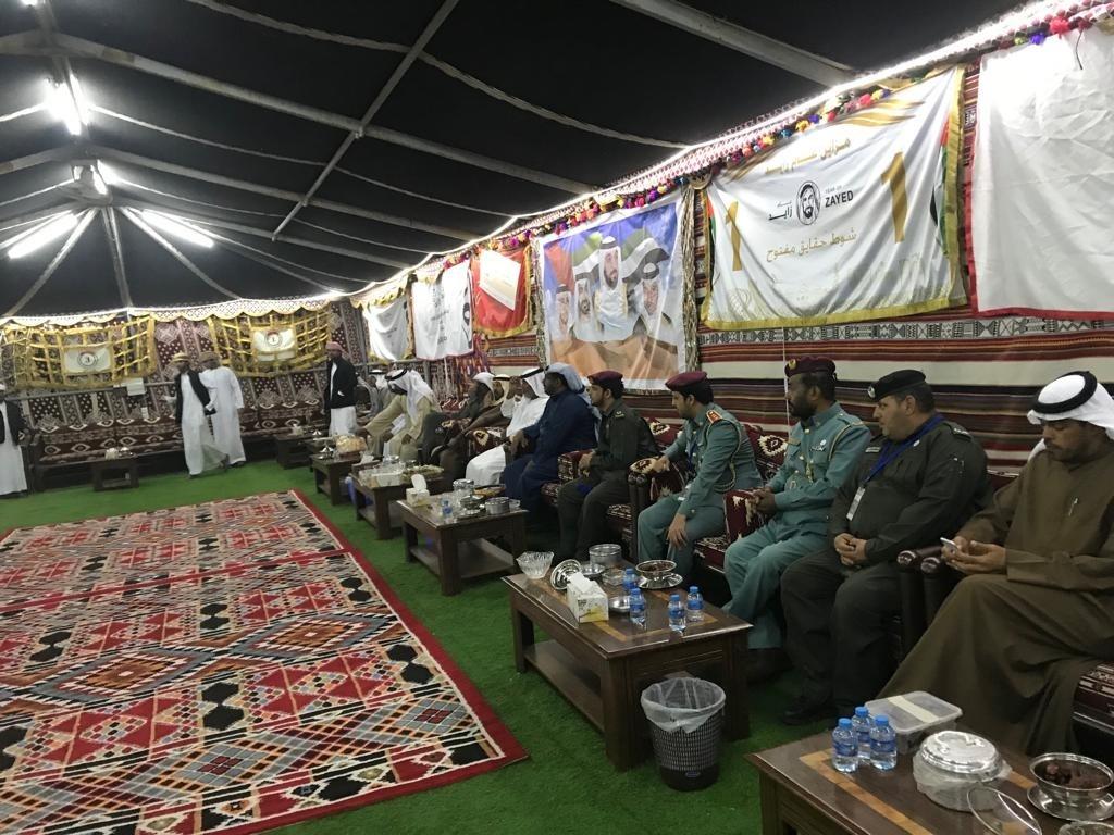 خلال الزيارات الميدانية للمخيمات الشتوية للتوعية بكيفية الوقاية من الحرائق. (الرؤية)