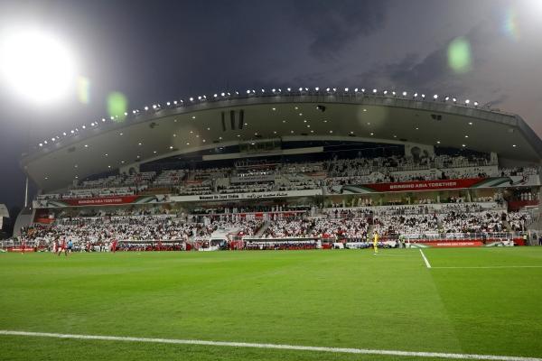 مباراة الامارات وقطر في نصف نهائي كأس آسيا على استاد محمد بن زايد ابوظبي 29 01 2019