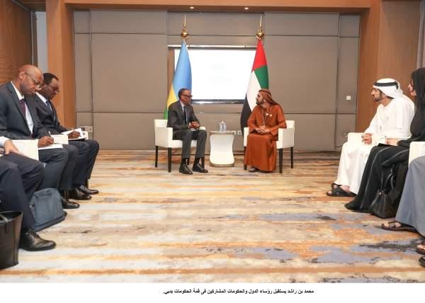 محمد بن راشد يستقبل رؤساء الدول والحكومات المشاركين فى قمة الحكومات بدبي. 6