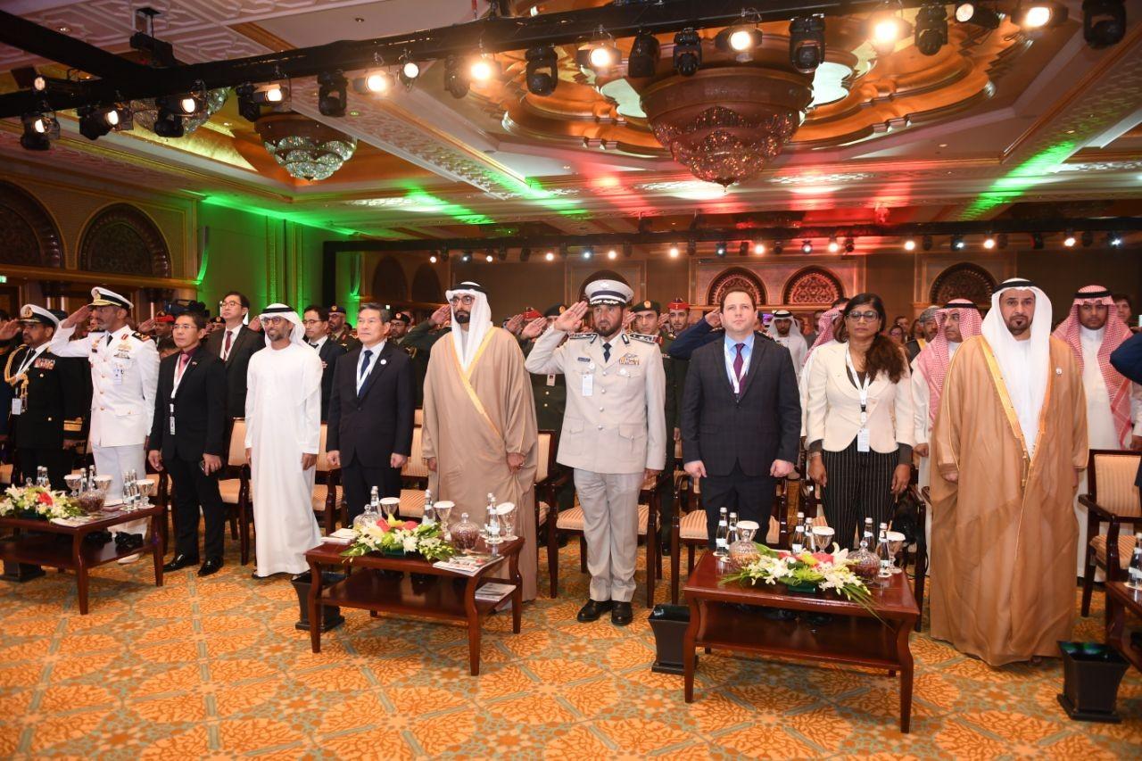 جانب من اختتام مؤتمر الدفاع الدولي 2019 أعماله في أبوظبي. (الرؤية)