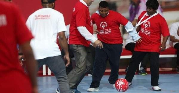 منتخب الإمارات لكرة القدم المشارك في منافسات الأولمبياد الخاص.(الرؤية)
