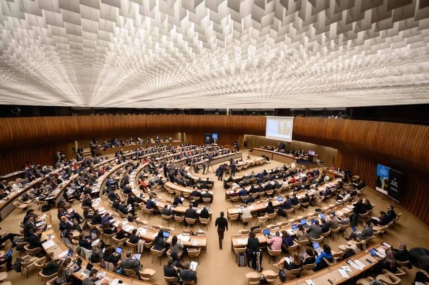 المشاركون في مؤتمر المانحين لدعم اليمن في جنيف. (أ ف ب)
