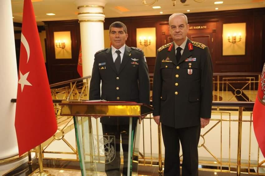 رئيس الأركان الإسرائيلي ونظيره التركي عقب محادثات عن التعاون العسكري المشترك بين البلدين