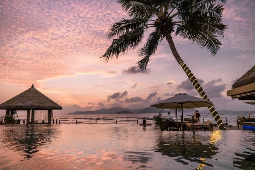 غروب الشمس في جزر السيشيل
