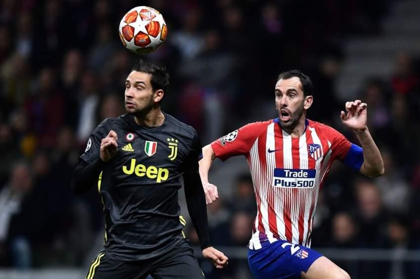 الدفاع القوي سر تفوق أتلتيكو مدريد ذهاباً. (أ ف ب)