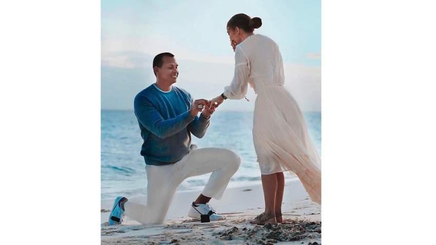 أثناء طلب الزواج من جنيفير لوبيز