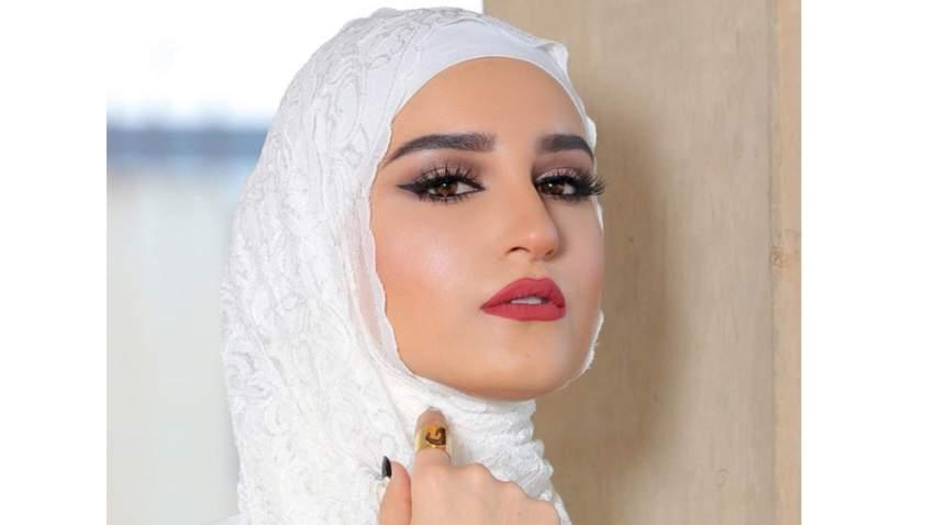 لفة حجاب كويتي بأسلوب دلال الدوب