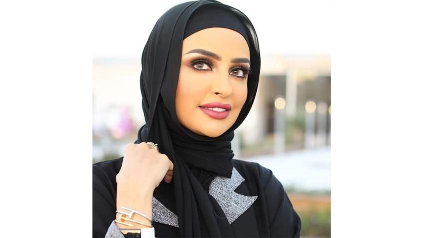 لفة حجاب كويتي بأسلوب سندس القطان