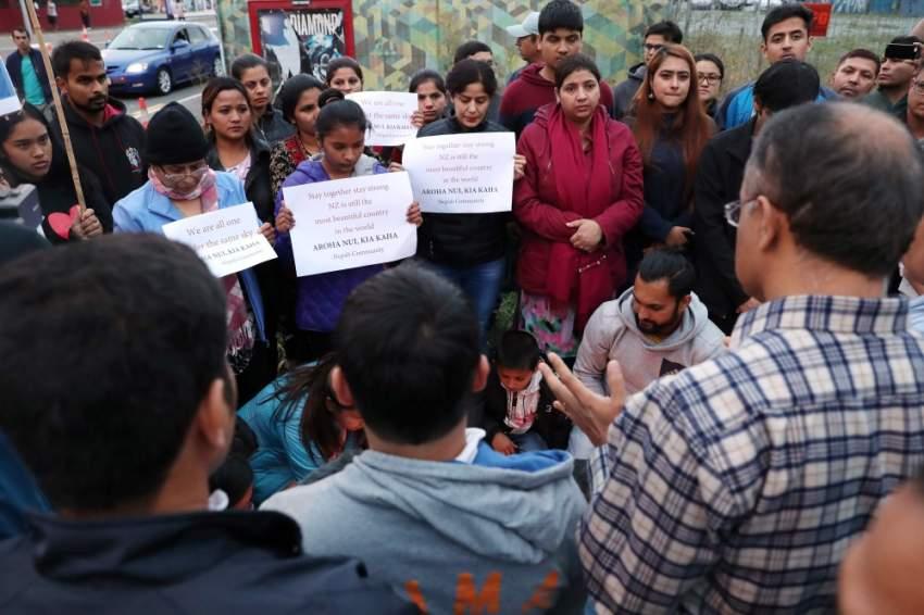 متضامنون من الجالية النيبالية في نيوزيلندا