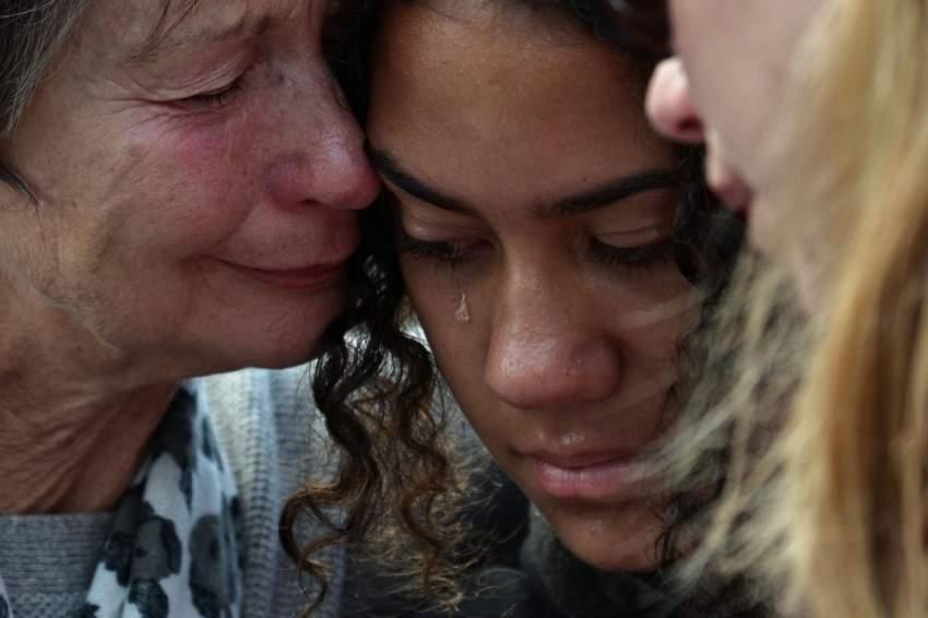 تضامن وطني نيوزيلندي واسع النطاق مع ذوي الضحايا. (وكالات)