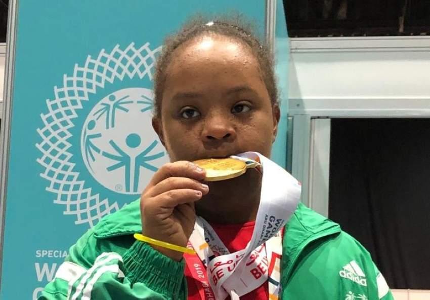 السودانية أروى تنتزع 5 ميداليات في الأولمبياد الخاص