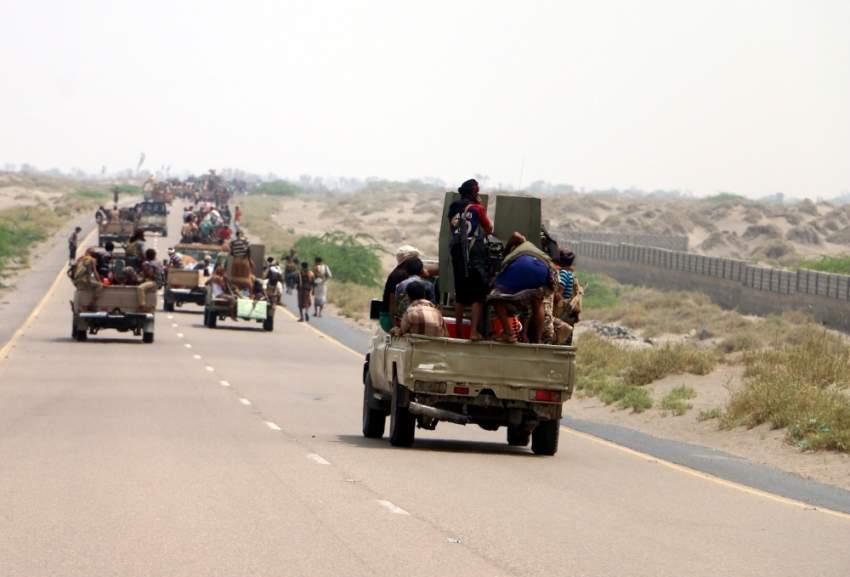 عناصر من قوات الشرعية اليمنية في الحديدة. (إي بي إيه)