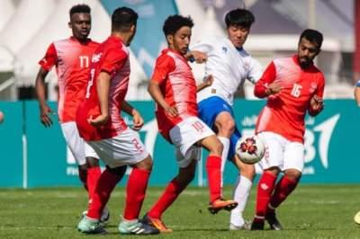 من مباراة الإمارات وكوريا الجنوبية.(الرؤية)