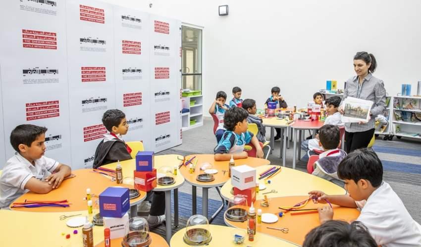 براعم مشاركون في مبادرة الفن في المدارس. (الرؤية)