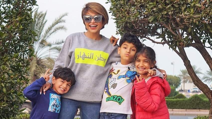 نهى نبيل مع أبنائها