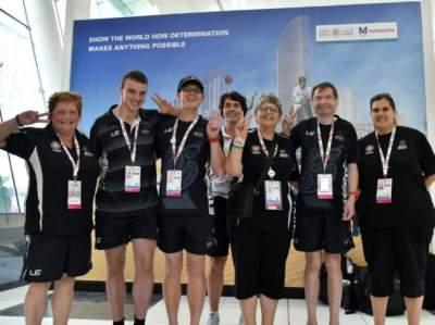 لاعبو المنتخب النيوزيلندي للأولمبياد الخاص. (الرؤية)