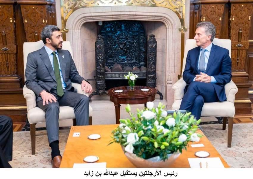 رئيس الأرجنتين يستقبل عبدالله بن زايد