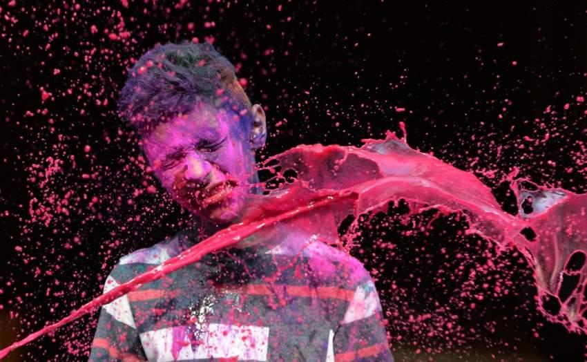 من أفضل اللقطات التي تم التقاطها في مهرجان هولي وهي من المصور ARUN SANKAR  أ.ف.ب