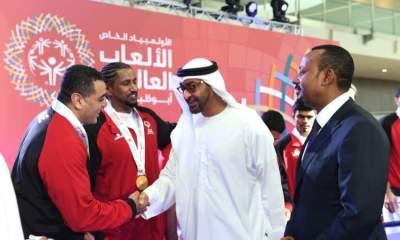 الشيخ محمد بن زايد يزور الاولمبياد الخاص.