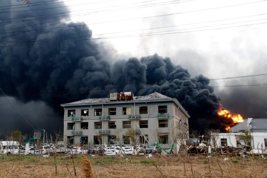 الانفجار الضّخم الذي وقع في مصنع للكيماويّات في شرق الصّين