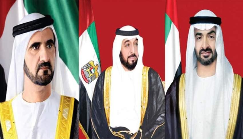 رئيس الدولة ونائبه ومحمد بن زايد يعزون الرئيس العراقي