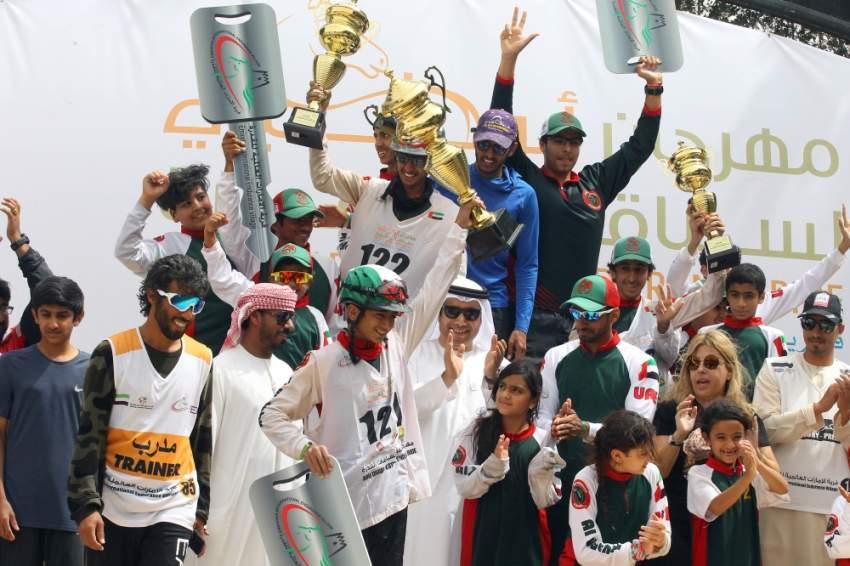 تتويج الفائزين في مهرجان أبوظبي للقدرة. (الرؤية)