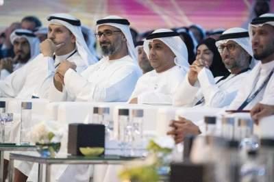 خالد بن محمد بن زايد آل نهيان خلال إطلاق منصة «HUB 71». (الرؤية)