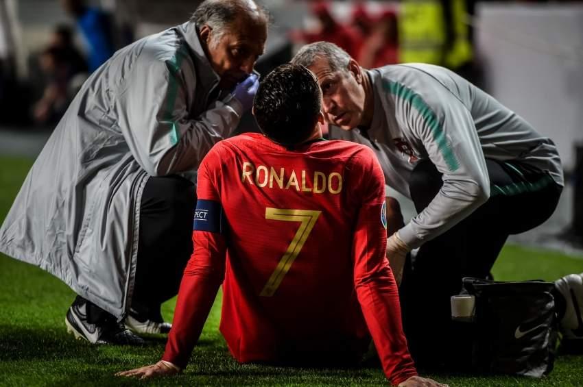 إصابة رونالدو تصدم مشجعي يوفنتوس
