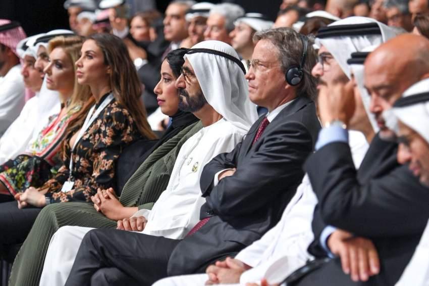 محمد بن راشد يشهد انطلاق أعمال منتدى الإعلام العربي