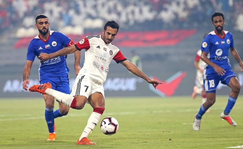 مباراة الجزيرة والشارقة في دوري الخليج العربي على ستاد محمد بن زايد ابوظبي 05 10 2018