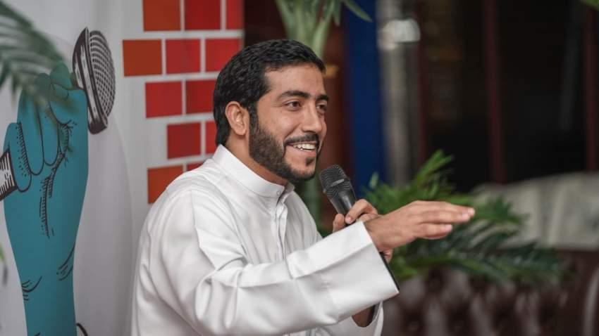 عمار آل رحمة خلال تقديم فقرته (1)