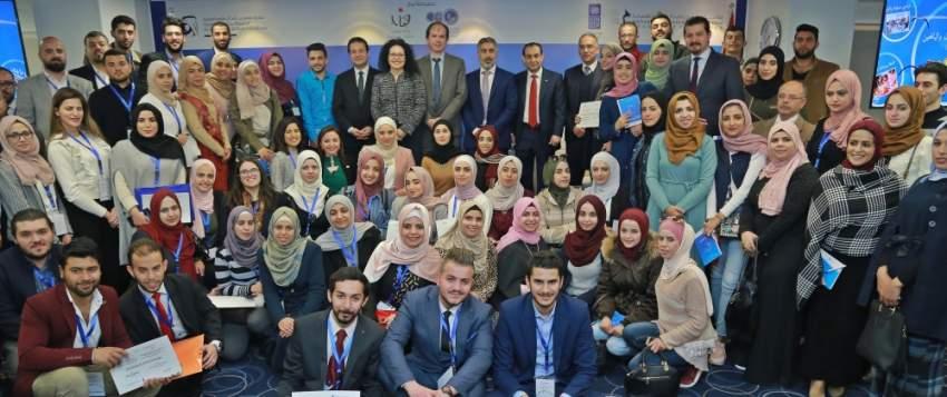 طلاب مشاركون في أسبوع المعرفة بالأردن. (الرؤية)