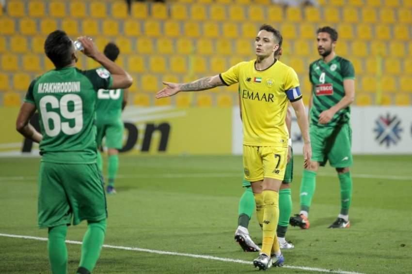 كايو في مباراة الوصل ضد ذوب آهان ضمن دوري أبطال آسيا. (الرؤية)