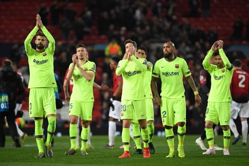 برشلونة يهزم مانشستر يونايتد ويقترب من المربع الذهبي لدوري الأبطال