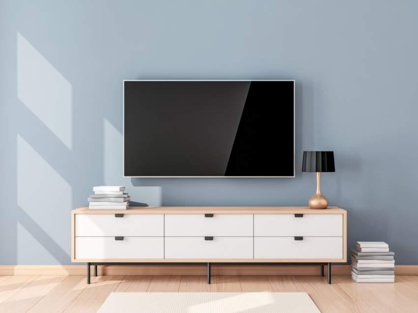 تعليق التلفاز وأدواته الكهربائية على الحائط يعد مثالياً لغرف الجلوس الصغيرة إن لم تكن هناك حاجة للتخزين