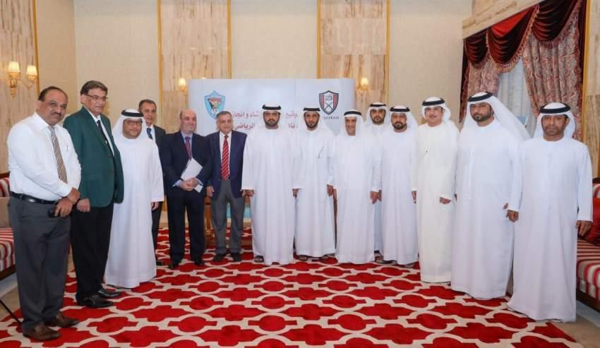 محمد الشرقي يوقّع عقد إنشاء استاد نادي دبا الرياضي